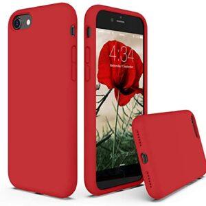 כיסוי סיליקון אדום אייפון 7
