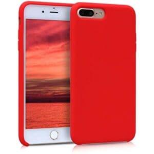 כיסוי סיליקון אדום אייפון 8 פלוס