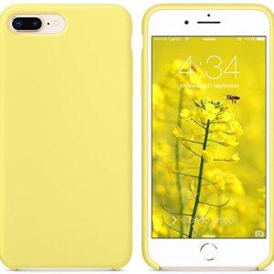 כיסוי סיליקון צהוב אייפון 7
