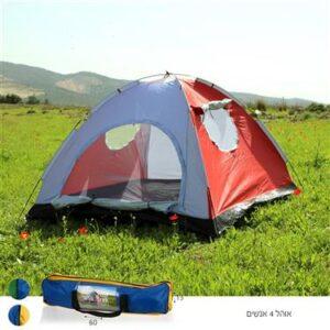 אוהל כיפה ל 4 אנשים עם 2 חלונות