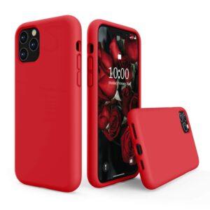 כיסוי סיליקון אדום אייפון 13 פרו
