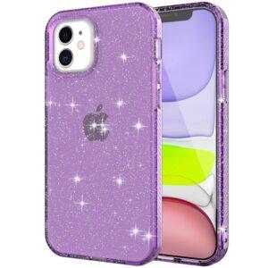 כיסוי שקוף קשיח נצנצים אייפון 12 סגול