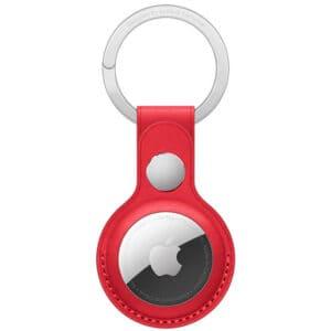 מחזיק מפתחות ל Apple Air Tag דמוי עור אדום