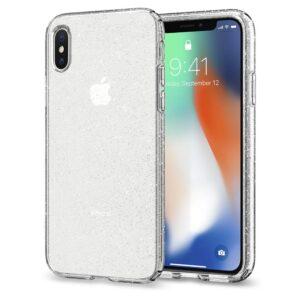 כיסוי שקוף קשיח נצנצים אייפון X