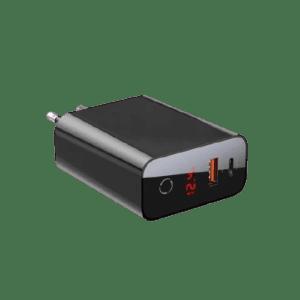 מטען 45W PD+QC3+צג שחור מבית Baseus