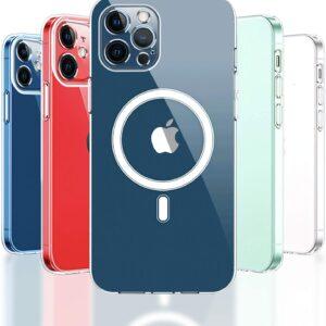 כיסוי שקוף חזק תומך טעינה אלחוטית Magsafe אייפון 11 פרו מקס
